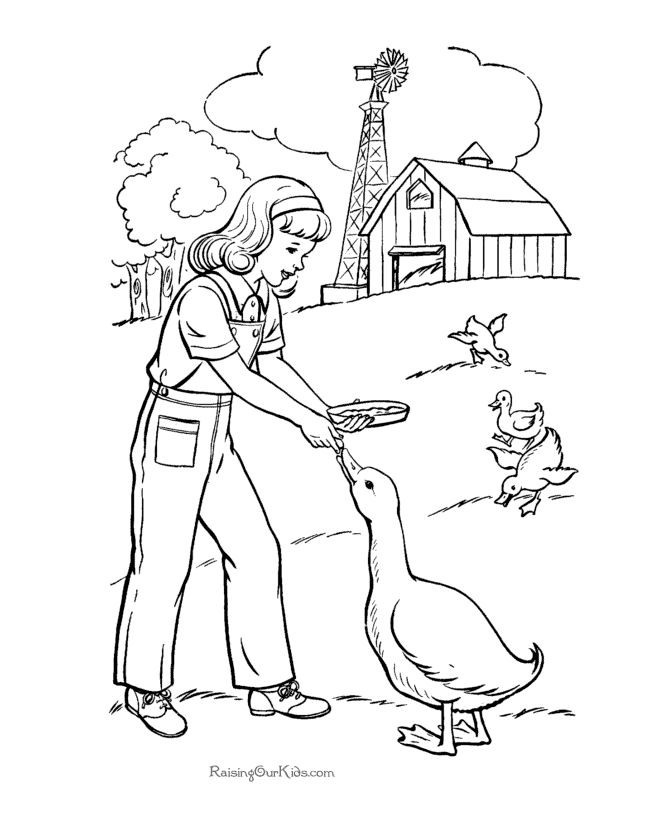 farm coloring picture for kid these free printable farm coloring sheets of farm pictures are fun for kids - Amish Children Coloring Book Pages