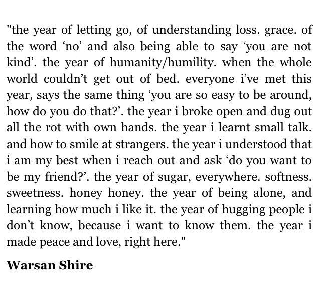 The year of being alone , and learning how much I like it//