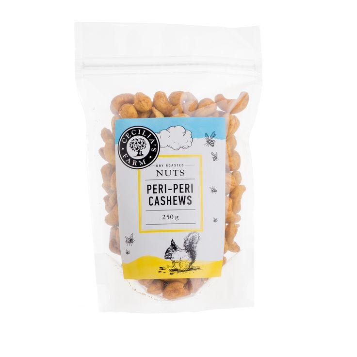 Our Cashews are sourced from Mozambique and India where they grow, and then brought back to Koelfontein to be roasted in our traditional Middle Eastern salt roasting process. Some of them are then carefully coated in a dusting of peri-peri spice which we are told is quite delightfully addictive! http://ceciliasfarm.co.za/product/roasted-salted-cashews/