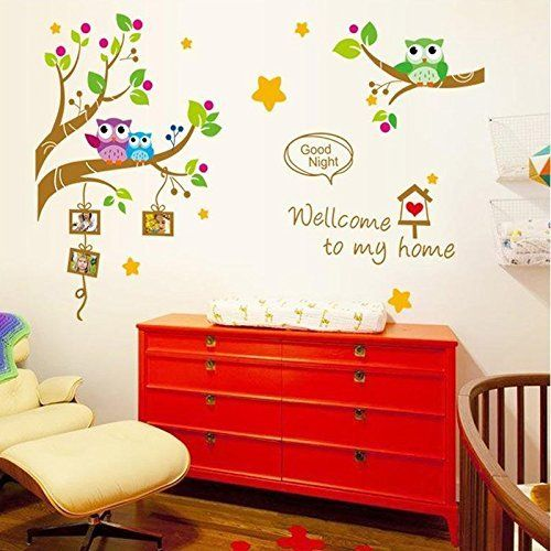 Wall Decals Good Night Photo Frame- Easy Peel & Stick Wall Art Decor - Baby/ Kids Nursery Room Decorative Stickers  #Baby #Decals #Décor #Decorative #Easy #Frame #Good #Kid's #Night #Nursery #Peel #Photo #Room #RusticWallClock #Stick #Stickers #Wall The Rustic Clock
