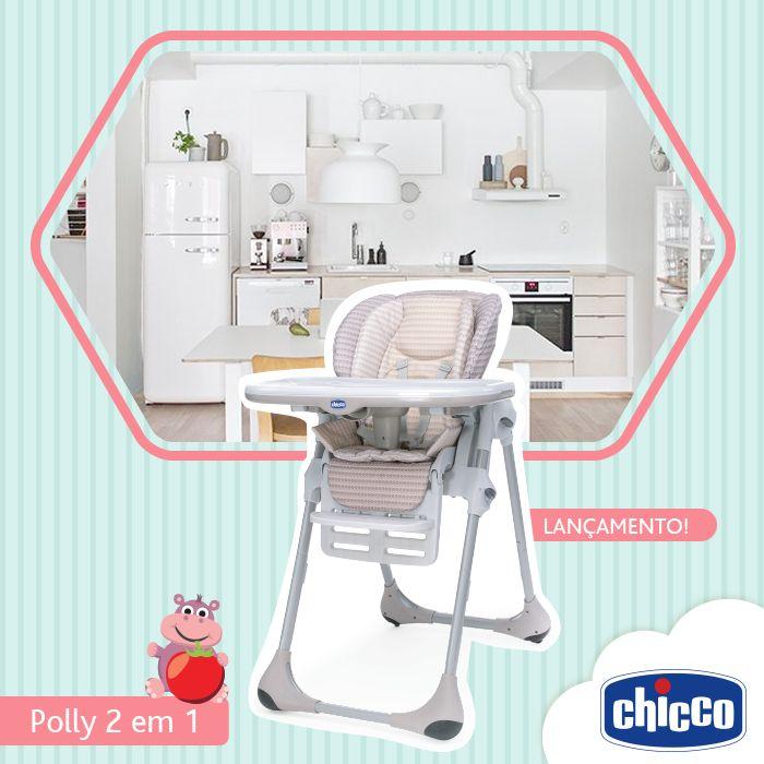 Polly 2 em 1: a cadeira que acompanha o crescimento do seu filho! Para bebês de 6 a 12 meses, a cadeira de alimentação Polly 2 em 1 é ideal para as primeiras papinhas do bebê, pois possui um redutor acolchoado que garante o máximo conforto. Por possuir 7 posições diferentes de altura é possível utilizá-la como uma cadeira de sociabilização da criança à mesa durante as refeições familiares. Praticidade e conforto nos momentos mais especiais do seu bebê.