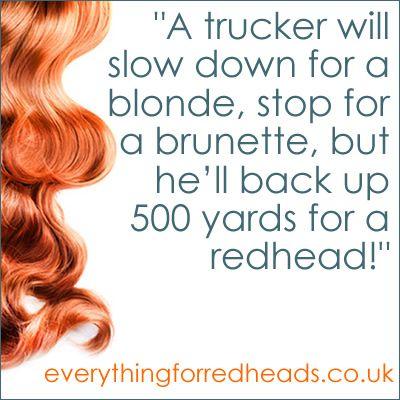 Redhead joke blonde brunette