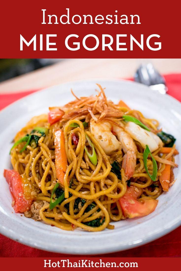 Indonesian Mie Goreng Wok Fried Egg Noodles Recipe Asian