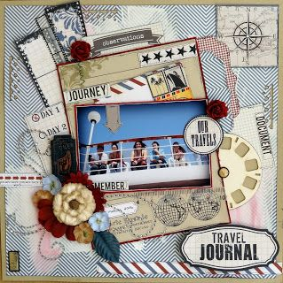 #papercraft #scrapbook #layout #travel    Val-Belle's Ramblings