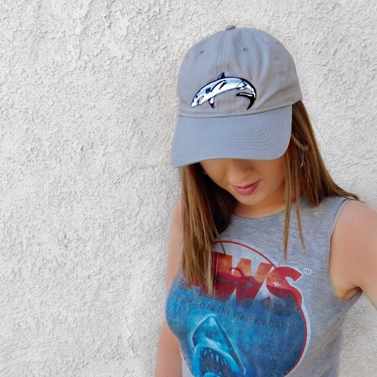 The shark baseball hat is here! Perfect for men and women. This is an awesome neutral hat that goes with any outfit.