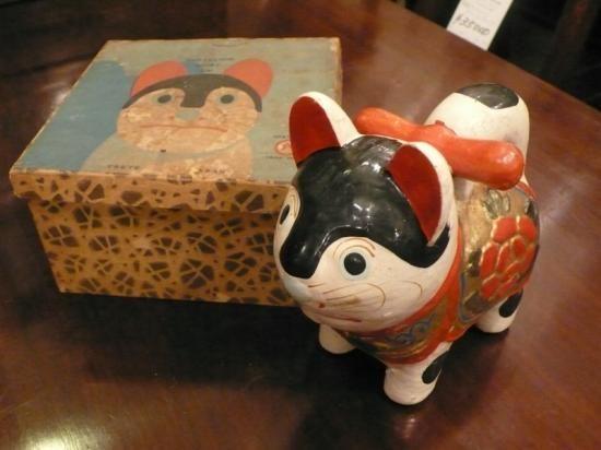 張り子 犬 (箱付) - アンティーク ブルーパロット