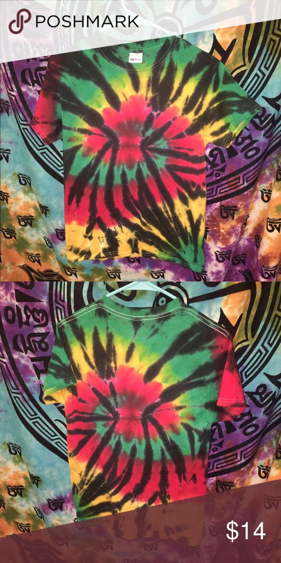 rasta tie-dye t shirt new without tags 💚💛❤️🖤 Tops Tees - Short Sleeve