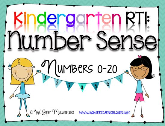 Kindergarten RTI: Number Sense...this is the best packet. And hers are ...