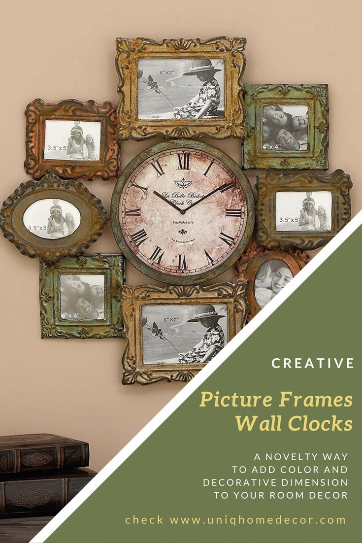 Best 25 picture frame clock ideas on pinterest picture wall picture frames wall clocks a creative way to check time use the clock with amipublicfo Gallery