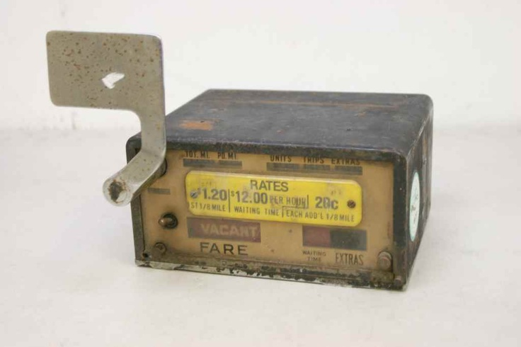 Vintage Rockwell Taxi Meter Gold Face 50's - 60's