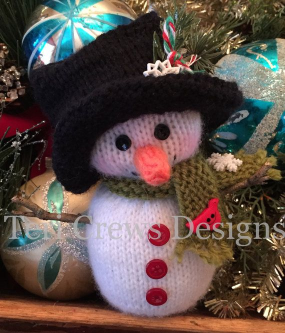 Little Snowman Knitting Pattern by Teri Crews Instant Download, PDF format