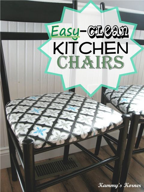 Recovering Kitchen Chairs With Vinyl