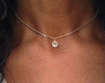 Gold Choker Halskette Gold Druzy Halskette Gold von PABJewellery