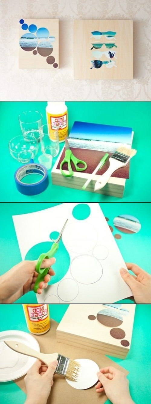 DIY Wall Art Gorgeous! I have to try this! (How To Make Slime With Mod Podge)