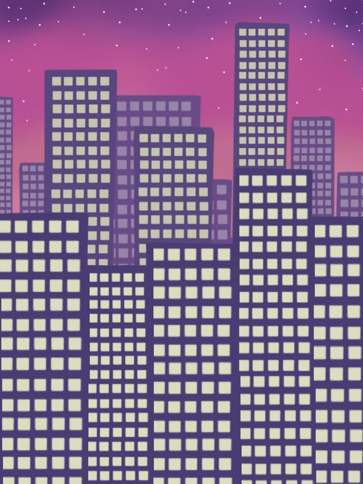 Summernight in the city; drawing by ArtWolf