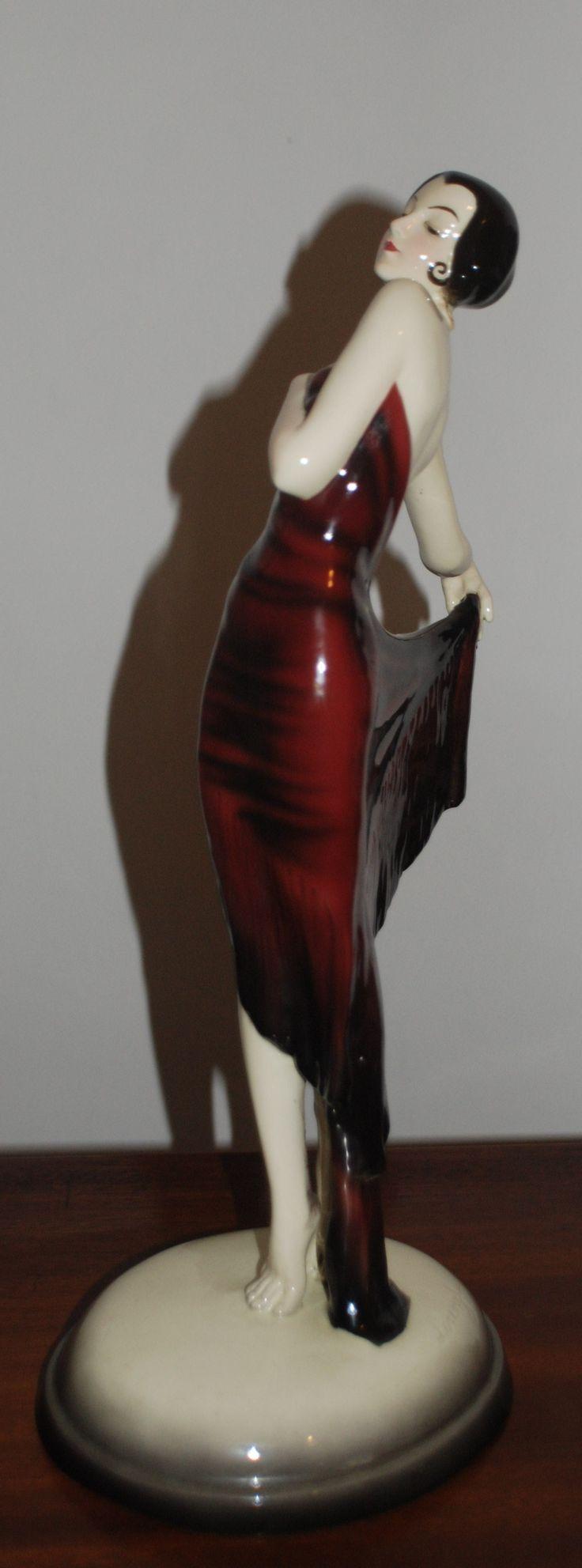 Art Deco GOLDSCHEIDER Spanish Shawl Dancer Josef Lorenzl early 30's 46 cm