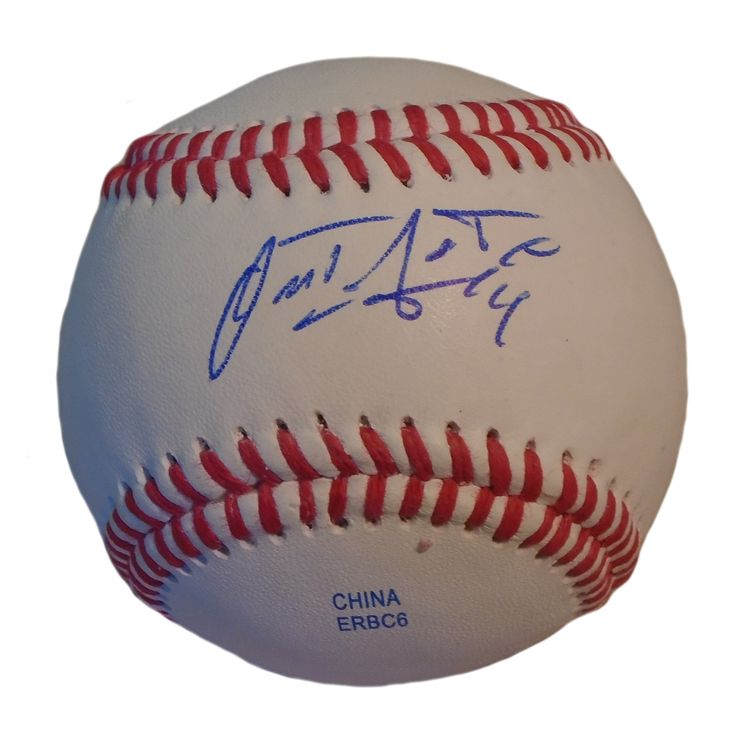 Detroit Tigers Omar Infante signed Rawlings ROLB leather baseball w/ proof photo. Proof photo of Omar signing will be included with your purchase along with a COA issued from Southwestconnection-Memorabilia, guaranteeing the item to pass authentication services from PSA/DNA or JSA. Free USPS shipping. www.AutographedwithProof.com is your one stop for autographed collectibles from Detroit sports teams. Check back with us often, as we are always obtaining new items.