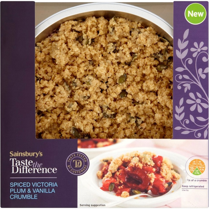 Sainsbury's Taste the Difference Plum Crumble (600g)
