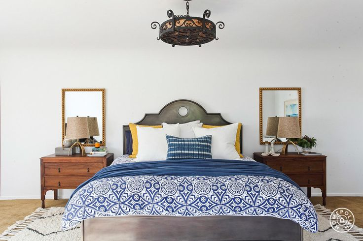 La Habra Heights - The master bedroom. by @homepolish Los Angeles