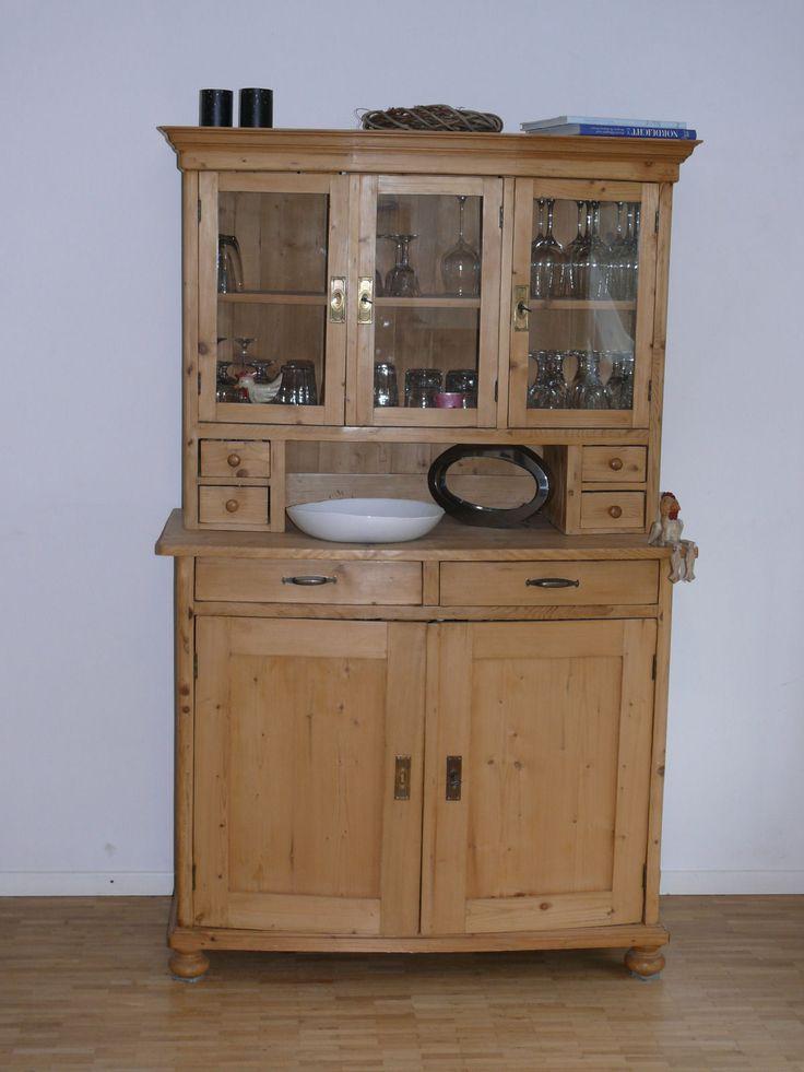 Kchenschrank Buffetschrank Wohnzimmerschrank Antik Weichholz In Antiquitten Kunst Mobiliar Interieur