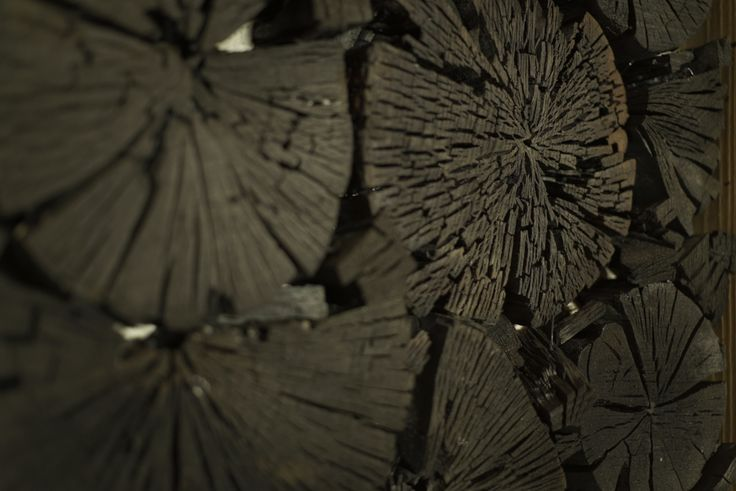 House made arbutus charcoal - sauna design