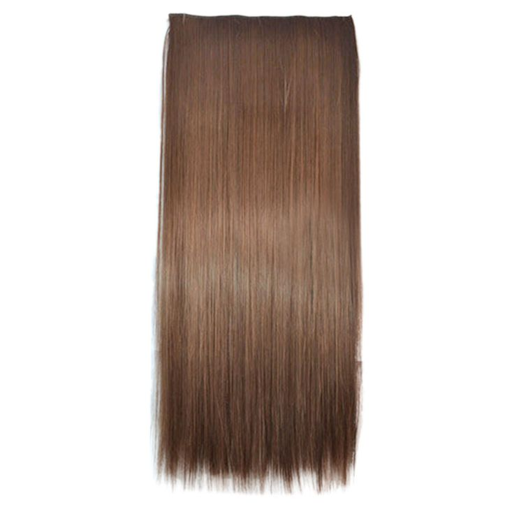 5 Cards Hair Extension Hair Weft Light Brown Wig