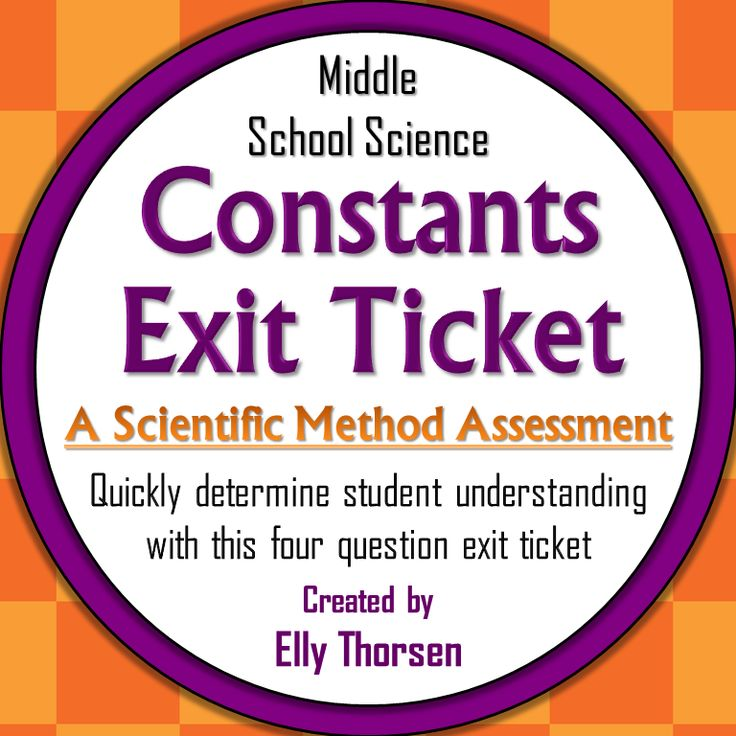 Quickly assess your middle school students' understanding of constants in experiments with this exit ticket about the scientific method.