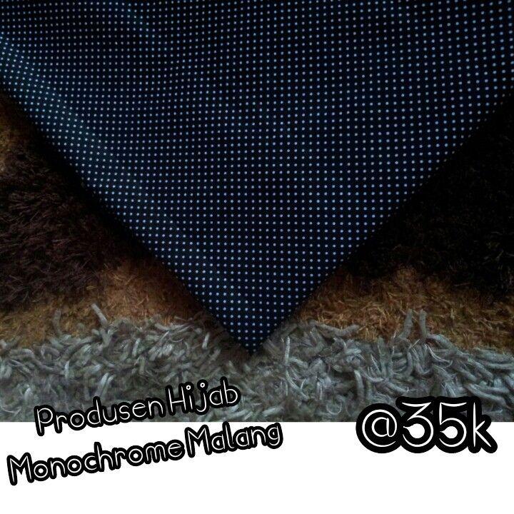 hijab monochrome mini polkadot