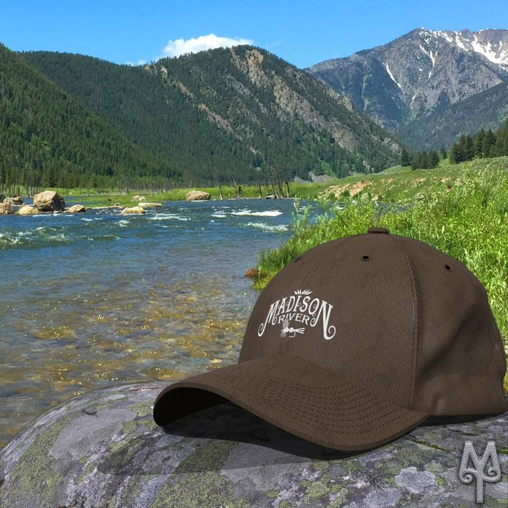 A Madison River ball cap seen on the river near the 'Ghost Village' Fishing Access Site, in southwest Montana.  The FlexFit's curved bill, athletic shape, and silver undervisor make it an ideal multi-purpose hat. I don't go out on the river without my Flexfit hat. Shop now!