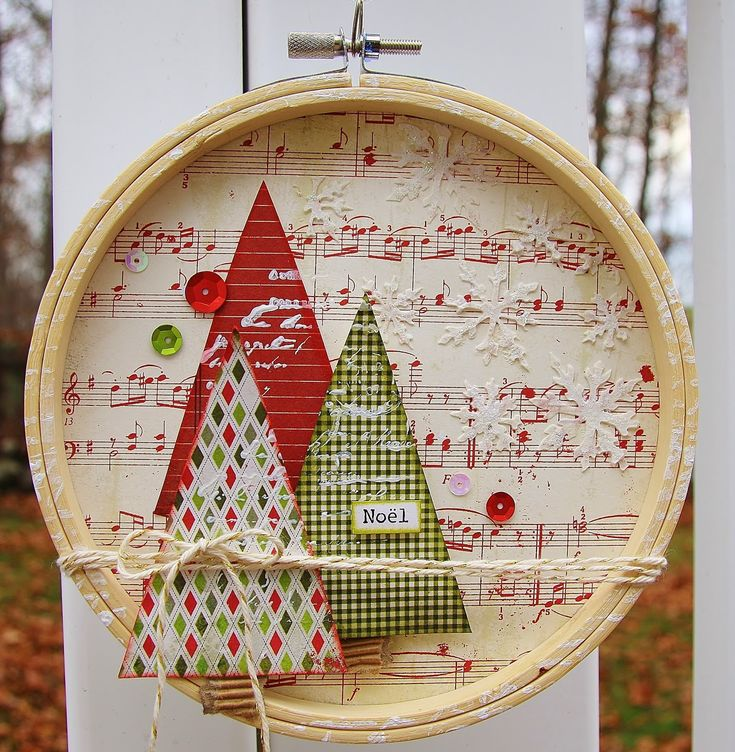 decorated embroidery hoop - just my style: Mixed Media Monthly December Challenge