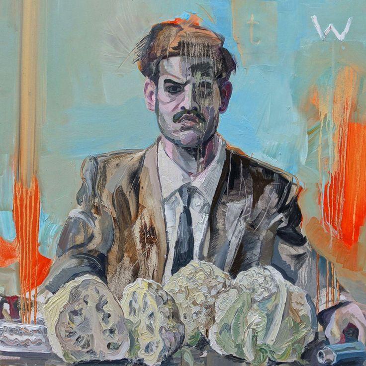 2. Taco Hemingway – Trójkąt Warszawski. Projekt: Łukasz Partyka, malarstwo: Piotr Dudek