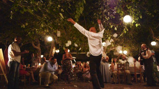 An amazing Greek wedding videographer, Kostas Kastanakis shooting a phenomenal Showtime wedding party.