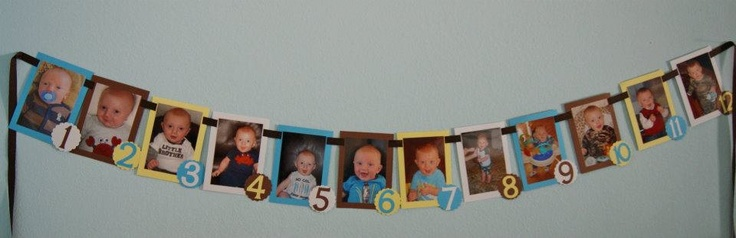 First birthday picture banner - definite for Logan's