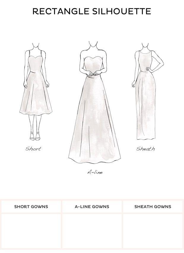 Best wedding dresses for rectangle body shape cheap for Wedding dresses by body shape