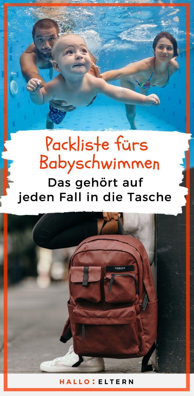 Mit dieser Checkliste für das Babyschwimmen kann nichts schief gehen   – Baby