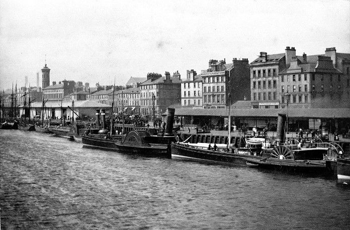 Paddle steamers on the Clyde 1870
