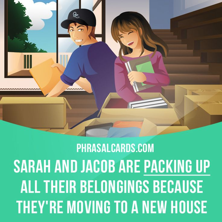 """Pack up"" means ""to put things into boxes or bags so that you can take or send them somewhere"".  Example: Sarah and Jacob are packing up all their belongings because they're moving to a new house.  #phrasalverb #phrasalverbs #phrasal #verb #verbs #phrase #phrases #expression #expressions #english #englishlanguage #learnenglish #studyenglish #language #vocabulary #dictionary #grammar #efl #esl #tesl #tefl #toefl #ielts #toeic #englishlearning #vocab #wordoftheday #phraseoftheday"