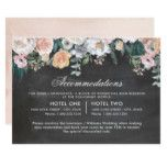Dusk Watercolor Flower | Accommodations Card #weddinginspiration #wedding #weddinginvitions #weddingideas #bride