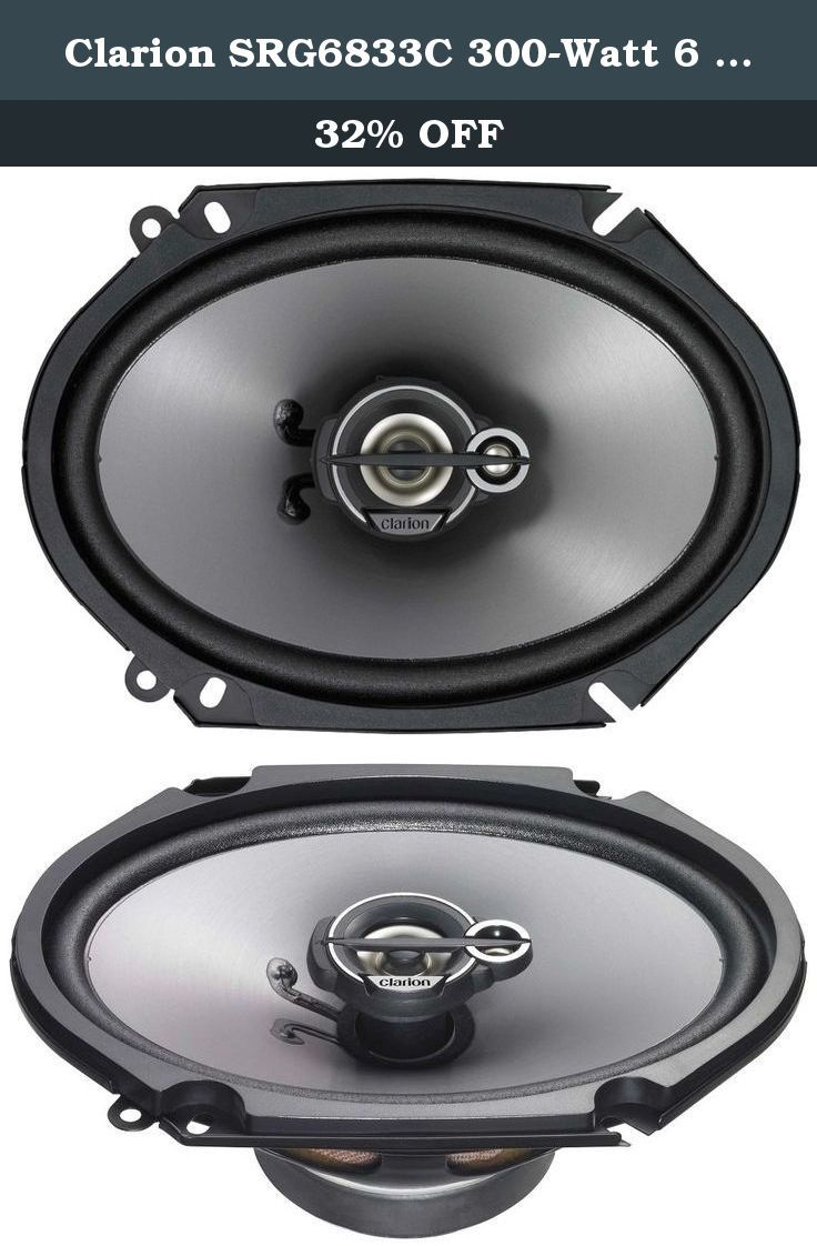 Clarion 6 x 8 inches good series custom fit multiaxial car speakers set of 2
