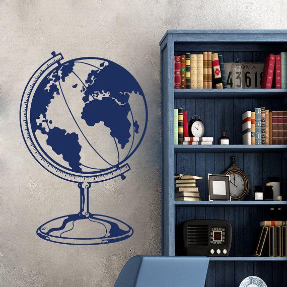Camera studio Ufficio murales ML163 muro decalcomanie mondo mappa Globo terra continenti paesi Vinyl Decal Sticker Home Decor Living bambini