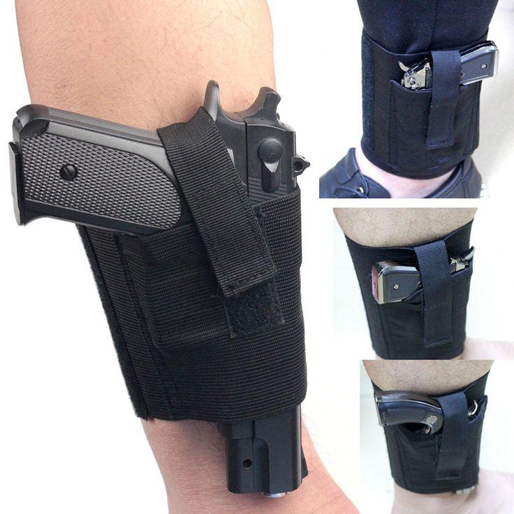 Скрытый Универсальный Черный Носить Лодыжки Ног Пистолет Кобуры пистолет LCP LC9 PF9 Мал для sig 223 SCCY 9 мм