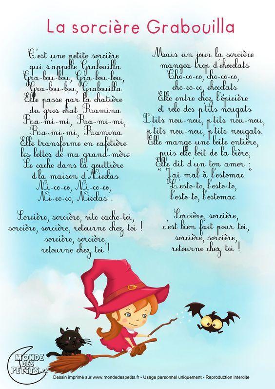 Paroles_La sorcière Grabouilla