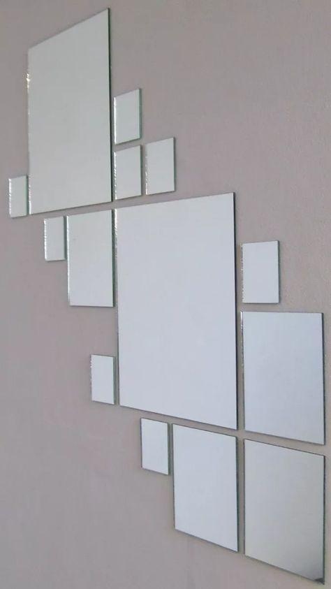 Kit o juego de 25 espejos cuadrados para decoraci n for Espejos decorativos cuadrados