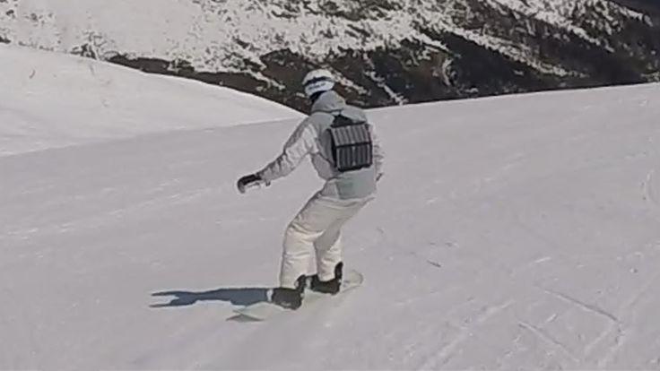 Mobisun 13W USB Portable Solar Panel and Power Bank on Snowboard and Ski...