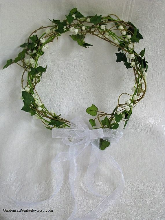 Ivy and Lily of the Valley Floral Crown by GardensatPemberley