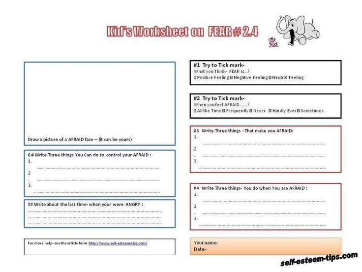 free printable kid worksheets on feelings building self