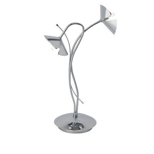 SICILIA Brilliant - stolová lampa - kov-chróm - 390mm
