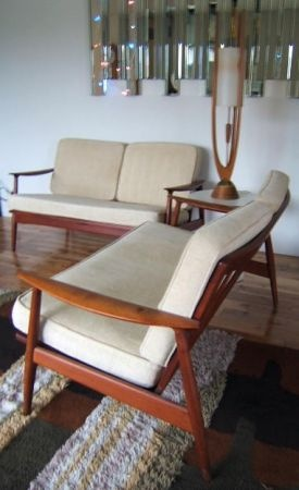 Portland: Beautiful Mid Century Sofas   Solid Teak   Johanes  Andersen/Moreddi $2500