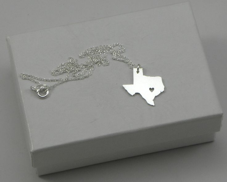 Texas Necklace  Sterling Silver by MCMetalwork on Etsy, $25.00