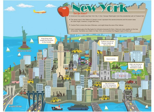 Fun printable new york city travel map things to do in for Stuff to see in nyc